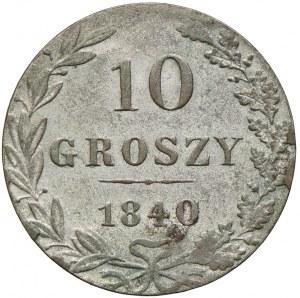 Królestwo Kongresowe, Mikołaj I, 10 groszy 1840 MW, Warszawa