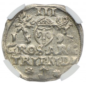 Zygmunt III Waza, trojak 1592, Wilno, NGC MS63