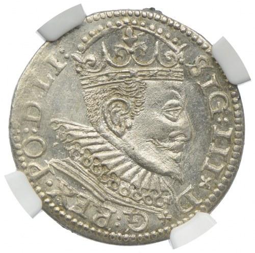 Zygmunt III Waza, trojak 1594, Ryga, NGC MS64
