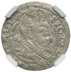 Zygmunt III Waza, grosz 1606, Kraków, NGC MS63