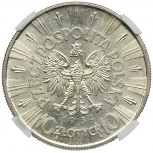 10 złotych 1934, Józef Piłsudski, NGC MS61