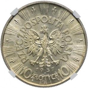 10 złotych 1937, Józef Piłsudski, NGC MS63
