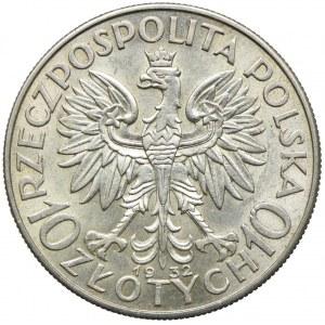 10 złotych 1932 bz, Londyn, Głowa Kobiety