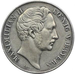 Niemcy, Bawaria, Maksymilian II, talar 1855, Monachium