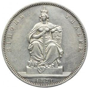 Niemcy, Prusy, Wilhelm I, talar 1871, Berlin