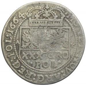Jan II Kazimierz, tymf (złotówka) 1664, Bydgoszcz