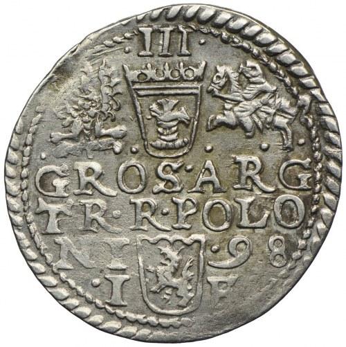 Zygmunt III Waza, trojak 1598, Olkusz