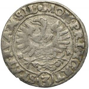 Śląsk, Stany Ewangelickie, 3 krajcary 1634 H-R/W, Wrocław