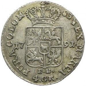 Stanisław August Poniatowski, złotówka (4 grosze) 1791 EB, Warszawa
