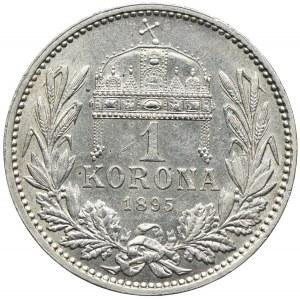 Węgry, Franciszek Józef I, 1 korona 1895, Kremnica