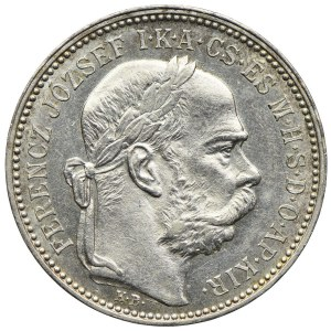 Węgry, Franciszek Józef I, 1 korona 1896, Kremnica