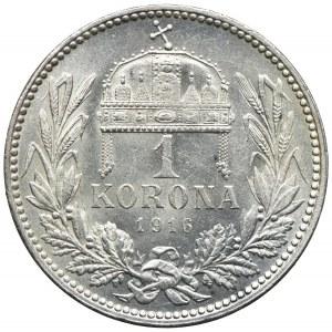 Węgry, Franciszek Józef I, 1 korony 1916, Kremnica