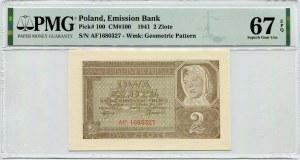 2 złote 1941 - AF - PMG 67 EPQ