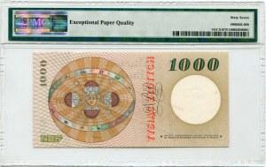 Wzór 1000 złotych 1965 - S - PMG 67 EPQ
