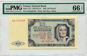 20 złotych 1948 - GW - PMG 66 EPQ