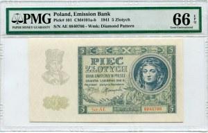 5 złotych 1941 - AE - PMG 66 EPQ