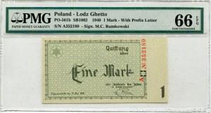 1 marka 1940 Łódź Getto - A - PMG 66 EPQ