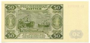 Wzór 50 złotych 1948 - EL -
