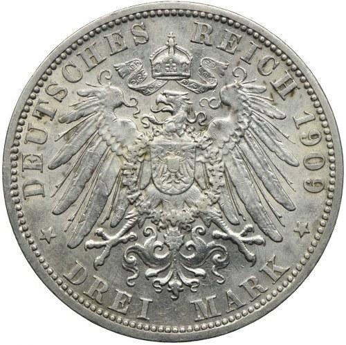 Niemcy, Prusy 3 marki 1909, Berlin