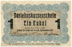 1 rubel 1916 seria Poznań, dłuższa wersja