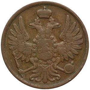 Zabór rosyjski, Mikołaj I, 2 kopiejki 1854 BM, Warszawa