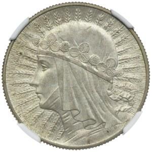 5 złotych 1934, Głowa Kobiety, NGC MS61