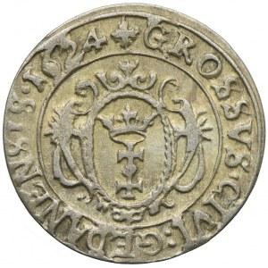 Zygmunt III Waza, grosz 1624, Gdańsk