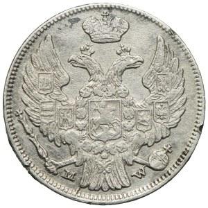 Zabór rosyjski, Mikołaj I, 15 kopiejek=1 złoty 1838 MW, Warszawa