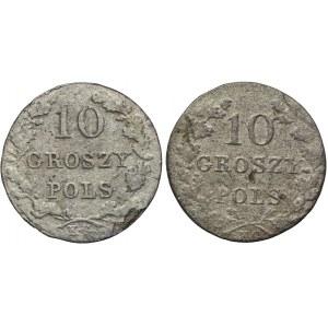 Powstanie Listopadowe, zestaw 10 groszy 1831, Warszawa (2szt.)