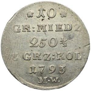 Stanisław August Poniatowski, 10 groszy miedziane 1793 MW, Warszawa