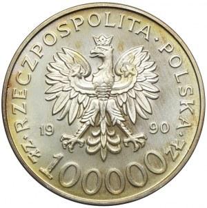 100.000 złotych 1990, Solidarność, typ A