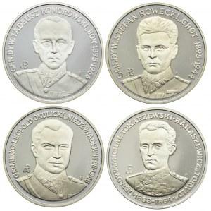 Zestaw lustrzanek, Tadeusz Komorowski, Stefan Rowecki, Witold Okulicki, Michał Tokarzewski (4szt.)