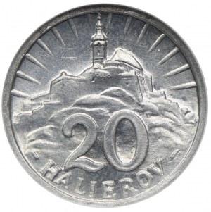 Słowacja, 20 halerzy 1943, NGC MS64