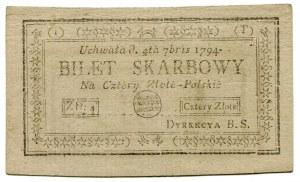 Bilet skarbowy 4 złote 1794 (1)(T)