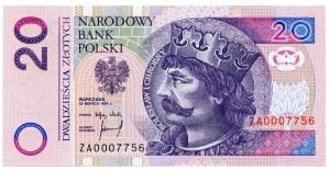 20 złotych 1994, ZA 0007756, seria zastępcza