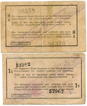 Niemiecka Afryka Wschodnia, 1 rupia 1916 H3, 1 rupia 1916 J2