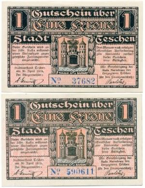 Cieszyn, 1 korona kwiecień 1919