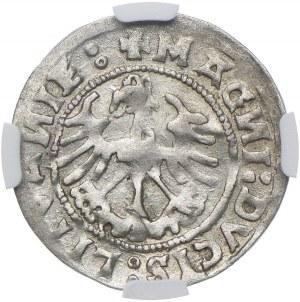 Polska, Zygmunt I Stary, 1/2 grosza 1519 Wilno, odwrotnie wybite N, NGC XF40