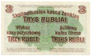Poznań, 3 ruble 1916 ''...nabywa i puszcza'' - U -