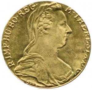 Austria, Maria Teresa, medalik, Au900