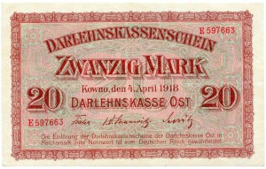 Niemcy, 20 marek 1918 - E -