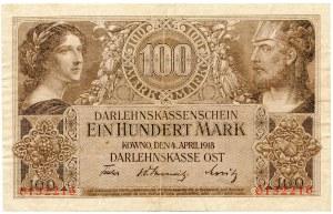 Kowno, 100 marek 1918