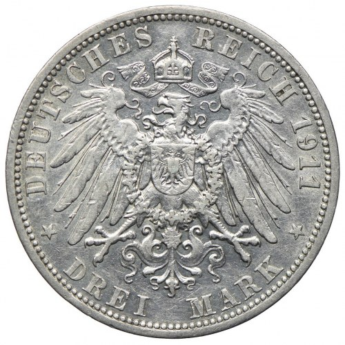 Niemcy, Prusy, 3 marki 1911 A, Berlin