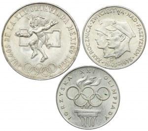 Zestaw, 25 pesos, 200 złotych 1975, 1976 (3szt.)