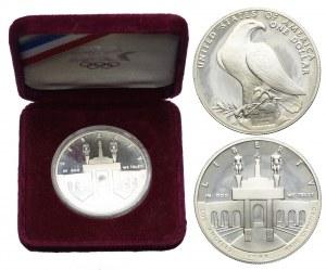 USA, 1 dolar 1984 S, Letnie Igrzyska Olimpijskie-Los Angeles 1984