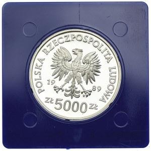 5000 złotych 1989, Władysław II Jagiełło, półpostać