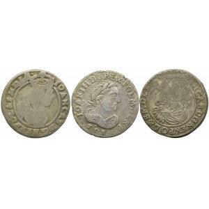 Zestaw szóstaków, Jan II Kazimierz 1665, Jan III Sobieski 1684, Jan II Kazimierz 1663 (3szt.)