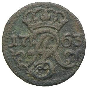August III, szeląg 1763, Elbląg