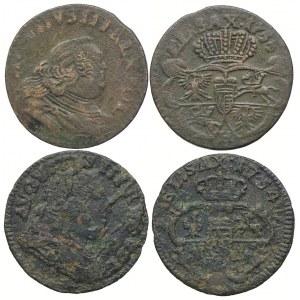 August III, szeląg 1754, 1755