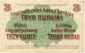 Poznań, 3 ruble 1916 ''...nabywa i puszcza'' - V -